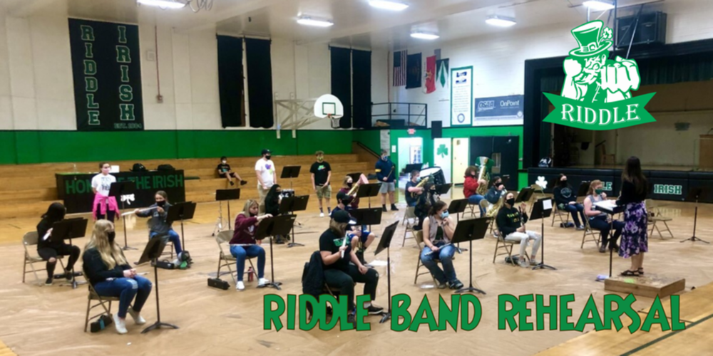 Riddle HS Band rehearsed together for the first time this year as a full band!
